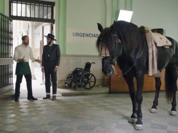 Frame 20.577777 de: Un vasco vestido de corto montando a caballo y diciendo "me da coraje"