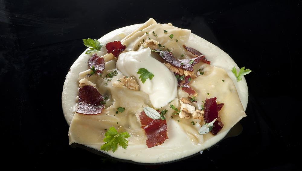Raviolis con queso