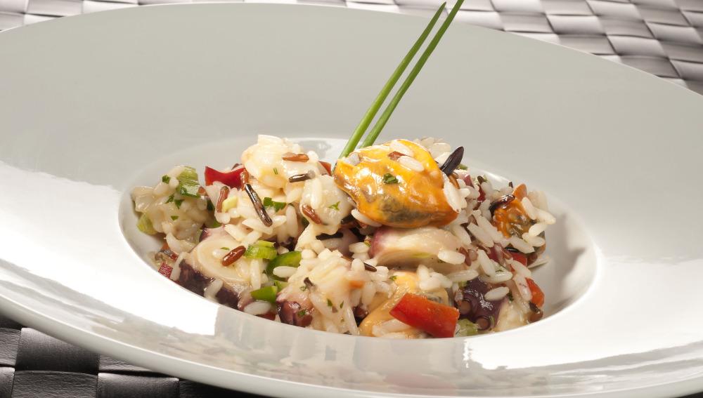 Ensaladilla de arroz a la marinera