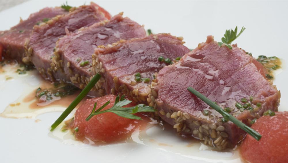Tataki de atún, Cocina con Bruno