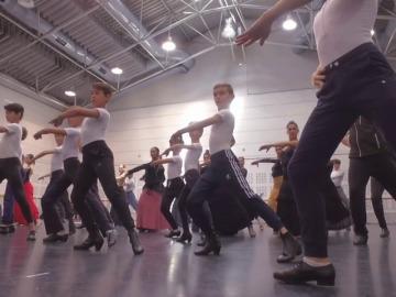 Los 'Billys' pasan un día con el Ballet Nacional