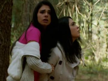 Brigitte y Natalia logran escapar del secuestro de Rodrigo