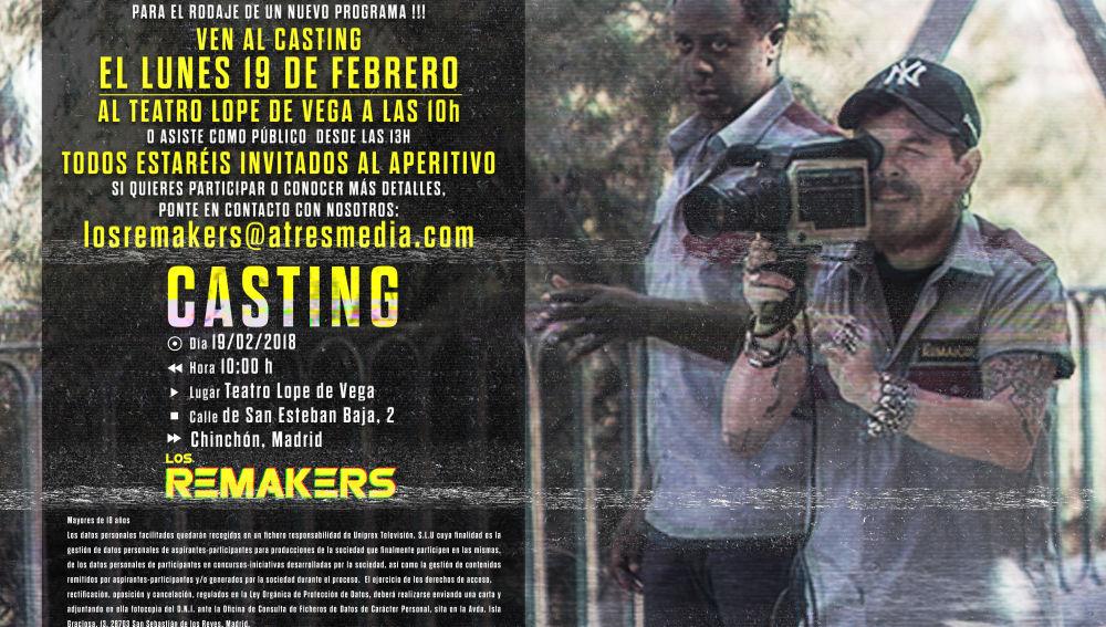 Ven al casting de 'Los Remakers' en Chinchón (Madrid)