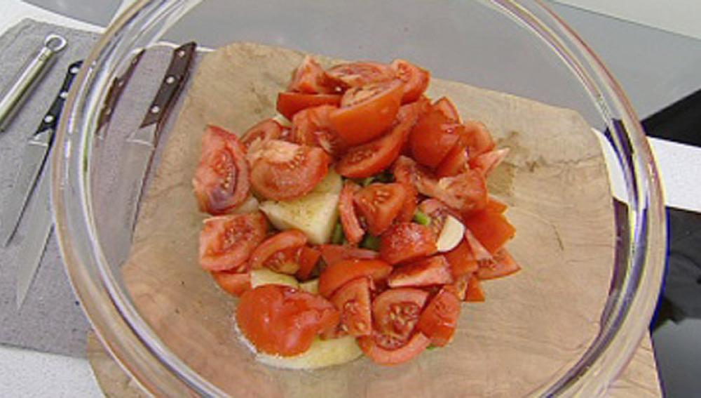 Gazpacho de melón con langostinos - Parte 1