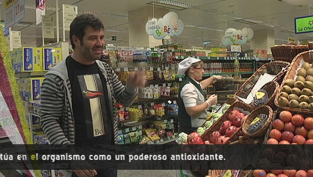 Bruno compra melocotones