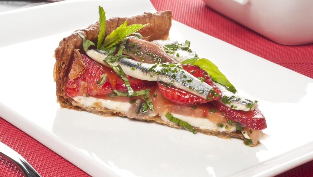 Tarta de mozarella y tomate