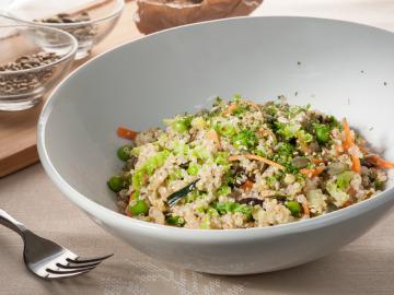 Ensalada crujiente de quinoa