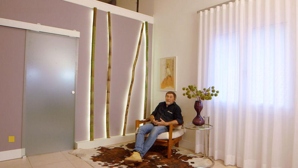 Nova tv un bamb luminoso para decorar una pared diferente for Bambu seco para decoracion